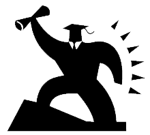 Clip Art of someone reaching their goal.