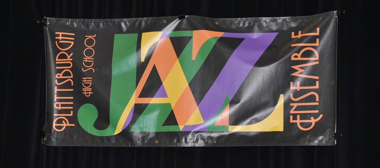 Photo of the JAZZ concert banner.