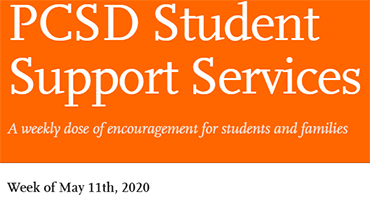 PCSD Student Support Services newsletter for May 11, 2020
