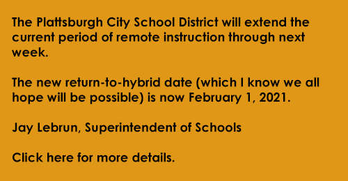 Remote instruction is extended through Jan. 29, 2021